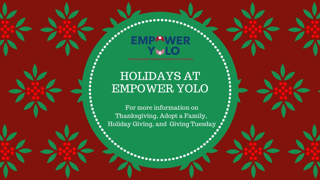 Holidays at Empower Yolo Artwork